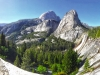 half dome from john muir trail