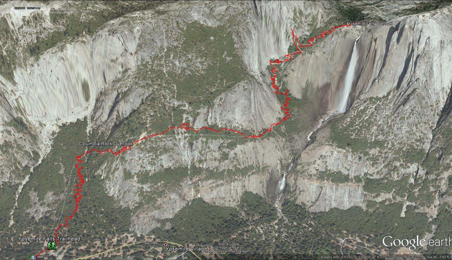 Yosemite falls upper yosemite falls trail publicscrutiny Choice Image
