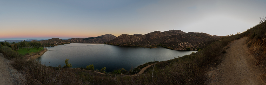 Heading up past the Lake Poway on the way to Mt Woodson