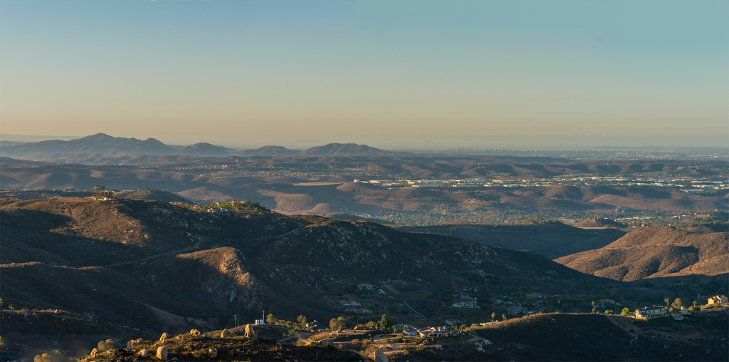 Looking back at Cowles Mountain, the Fortunas and the City of San Diego Beyond