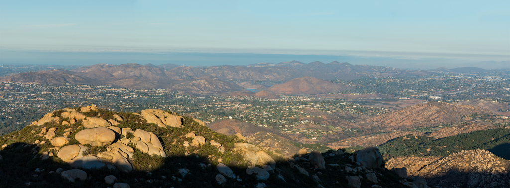 Looking towards Lake Hodges from the Mt Woodson Trail