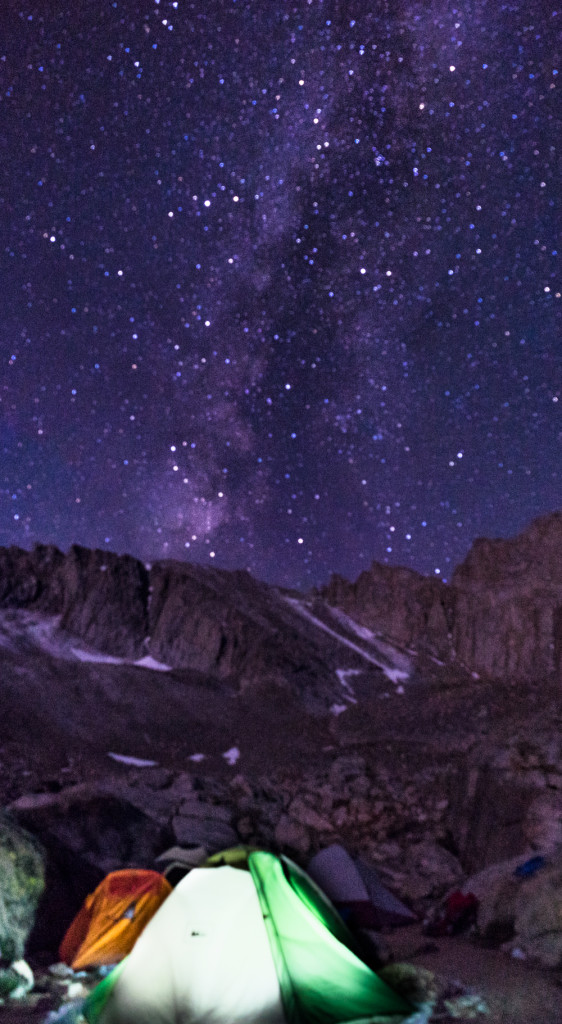 Milky Way and Mt Whitney in the background. Still learning my new camera and its bag of tricks.