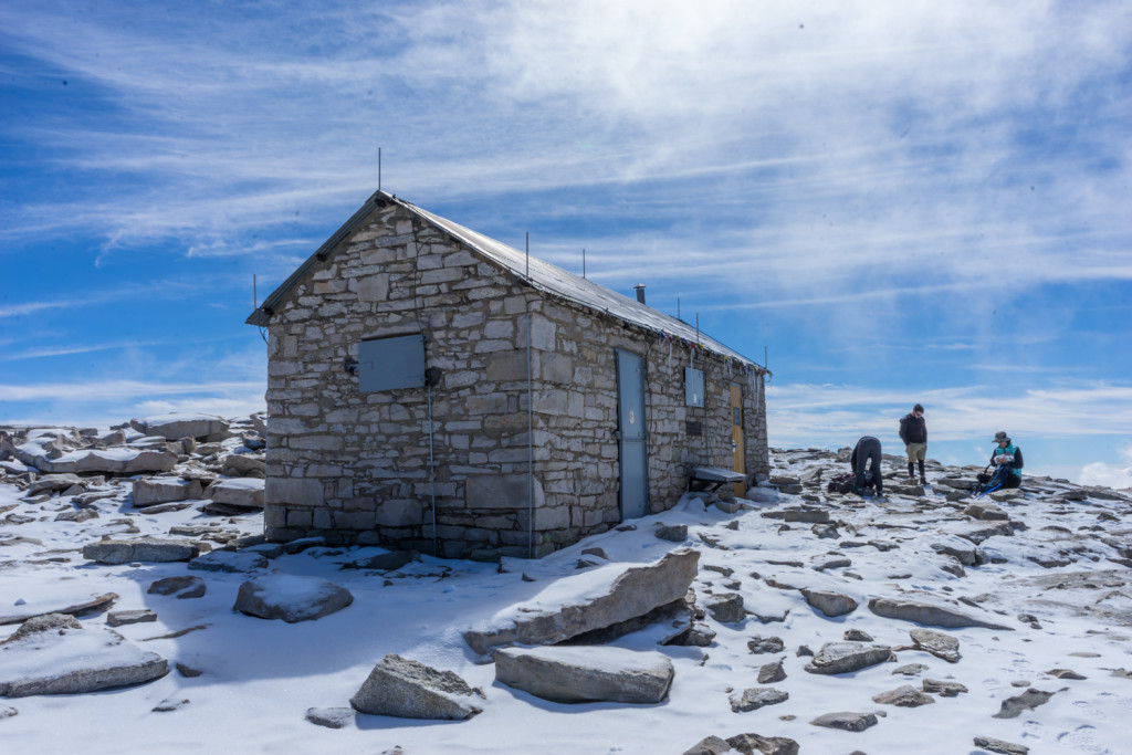 Smithsonian Hut at the top of Mt Whitney