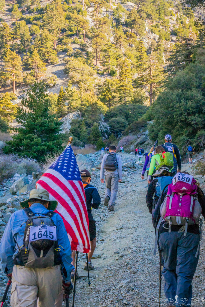 "Heading up the first leg burner of a hill as we start the ""Climb for Heroes""."
