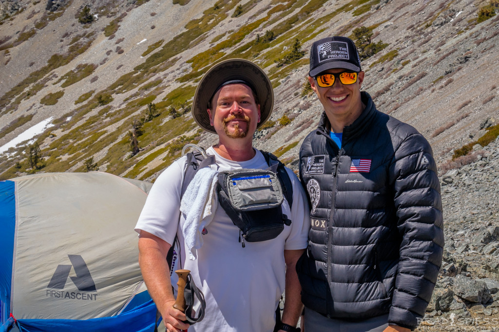 USMC SSGT Charlie Linville and my self at camp 4 on the way to the summit of Mt Baldy during the 2016 Climb for Heroes event.