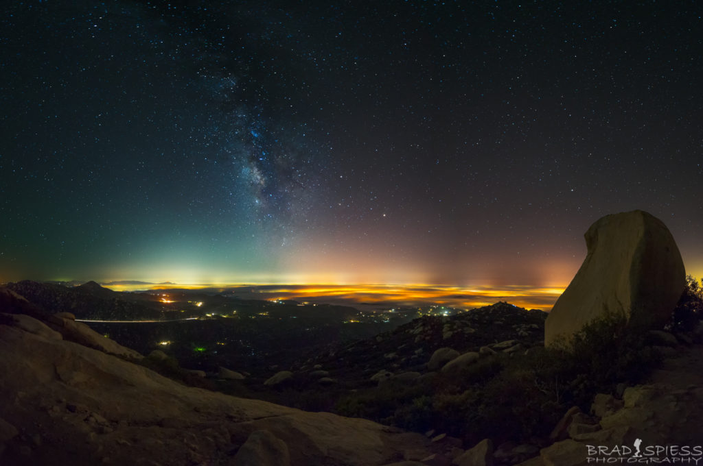 The Milky Way at 3am taken from the top of Mt Woodson