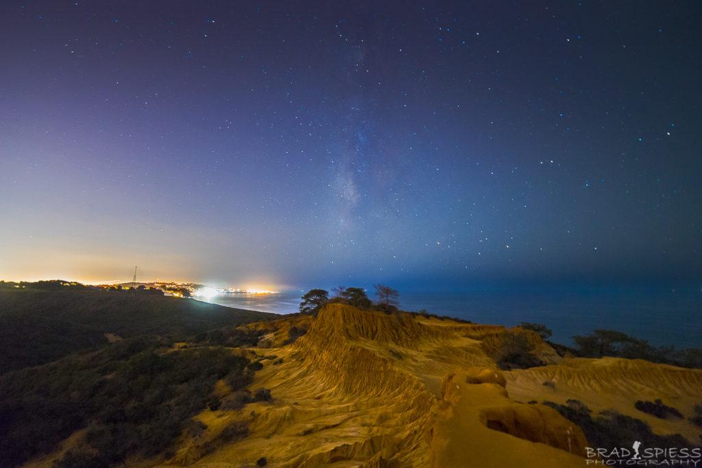 The Milky Way behind Broken Hill in Torrey Pines