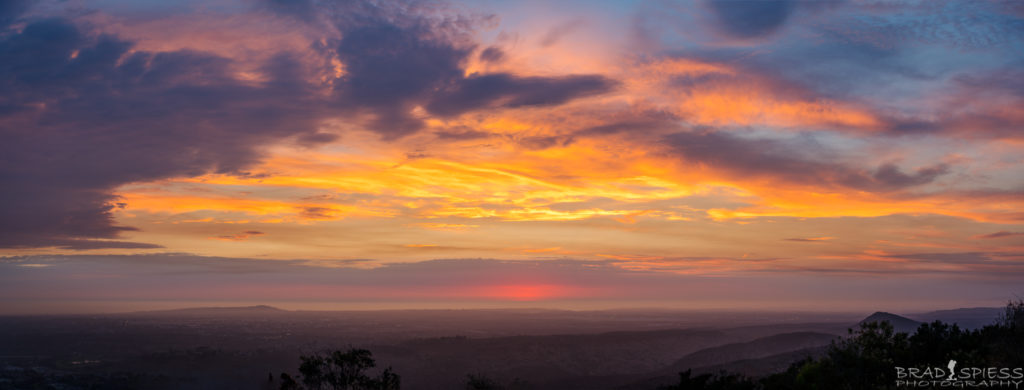 Watching the sunset from the top of Cowles Mountain