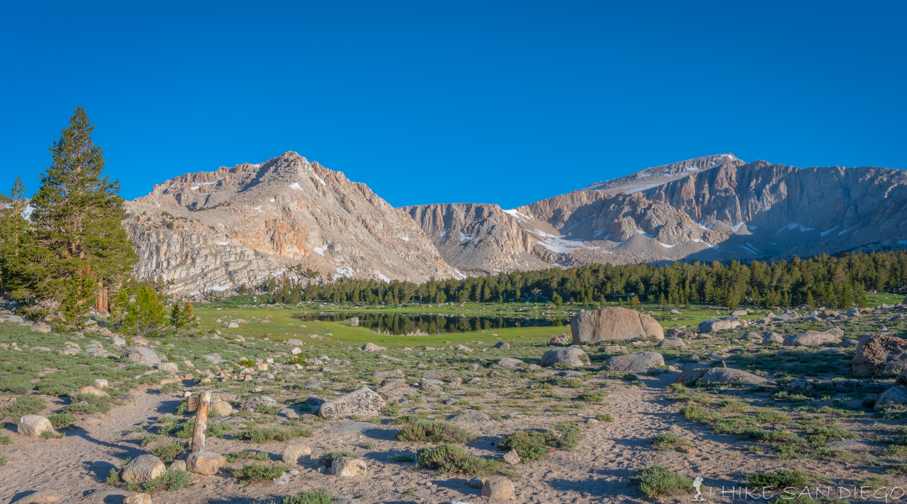 Lake #1 in the Cottonwood Lakes area and the first lake you come across as you crest the trail at 11,000 feet.